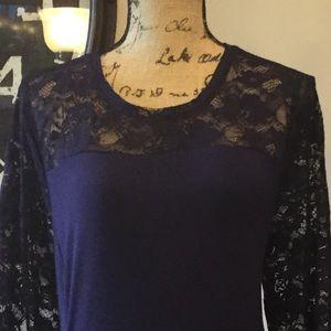 637138117c82e Apt. 9 Dresses - Women s APT. 9 Lace Yoke A-Line Midi Dress